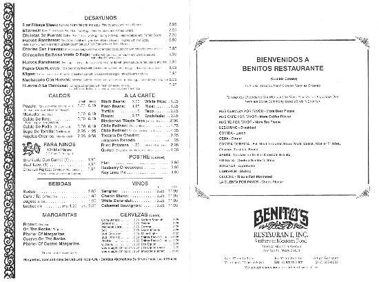 Benito's: Menu 2