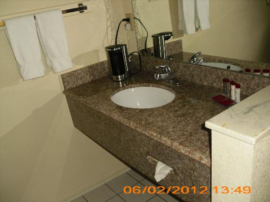 Ramada Limited San Diego/Near SeaWorld: sink with personal coffee maker