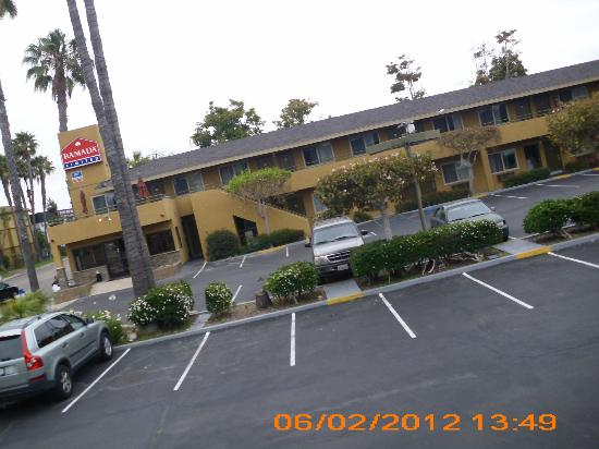 Ramada Limited San Diego/Near SeaWorld: view of parking lot from our room # 235