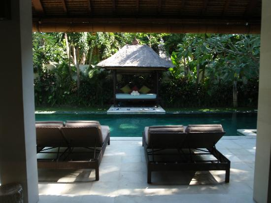Villa Bali Asri: Pool and view from 3 bedroom villa