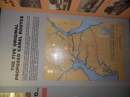 Chesapeake & Delaware Canal: Canal routes