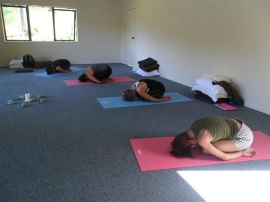 Cocozen Lodge and Spa : salle de réunion transformée en salle de yoga