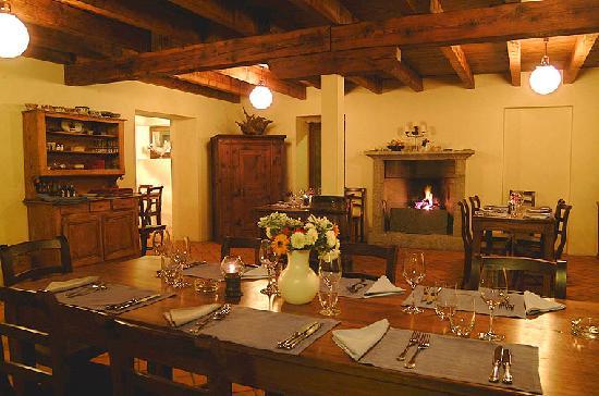 Vico Morcote, Suiza: Interno ristorante