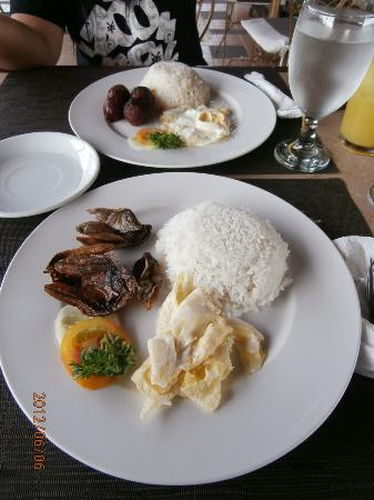 Apple Tree Suites Cebu: danggit and longganisa breakfast meals