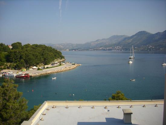 vue sur mer de la terrasse de l'hotel Cavtat