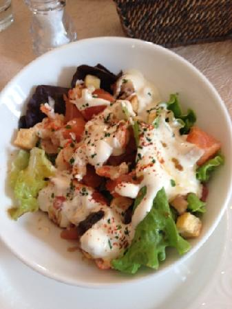 La Cour D'Eymet: salmon and crayfish salad. delish!