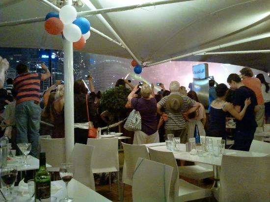 Passello Restaurant: the fireworks throng