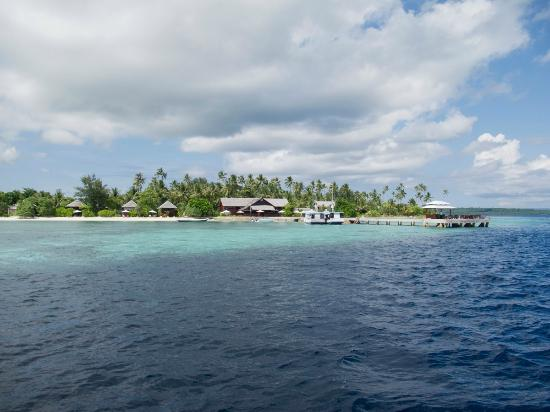 Wakatobi Dive Resort: A view of Wakatobi from the boat.