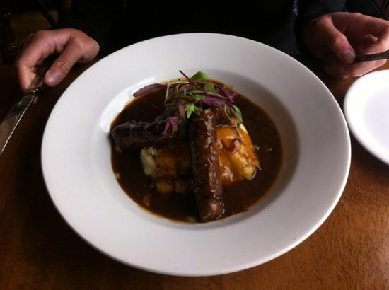 The Waterfront : venison sausages and mash