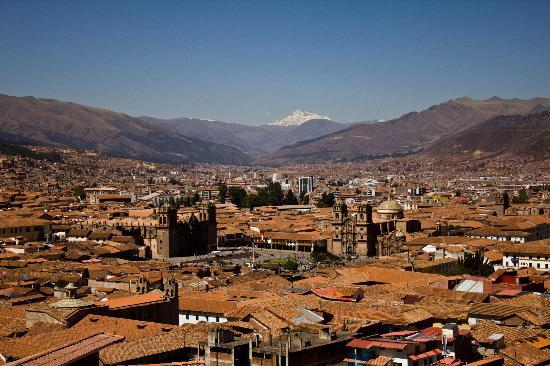 Hostal Qorikilla: View over Cusco from window