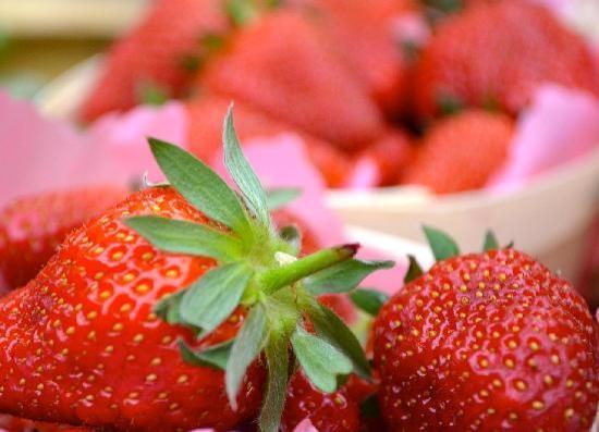 Luscious, ripe berries at Uzes farmer's market