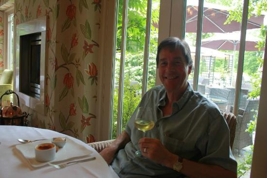 Gilpin Hotel & Lake House: Dessert with a glass of Jurançon.