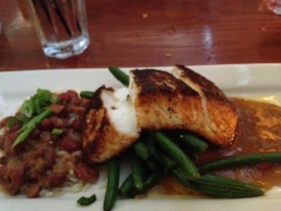 Columbus Fish Market--Grandview: blackened halibut