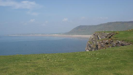 Rhossili Bay: Worth taking the walk down, shame the tide was turning