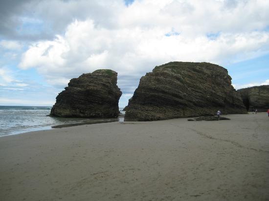 Playa de las Catedrales: playa baja mar