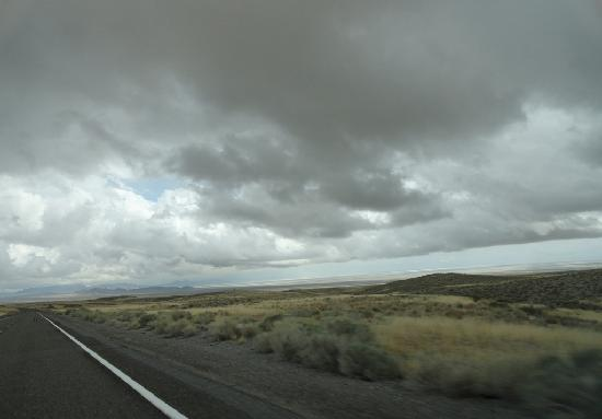 Loneliest Highway in America (Hwy. 50): Cloudy section along the Loneliest Road