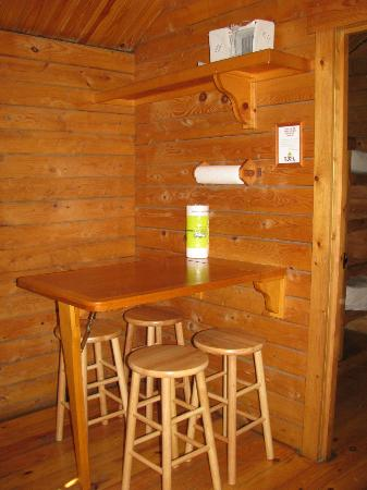 Bare Bones Cabin Table Stools Picture Of Frontier Town
