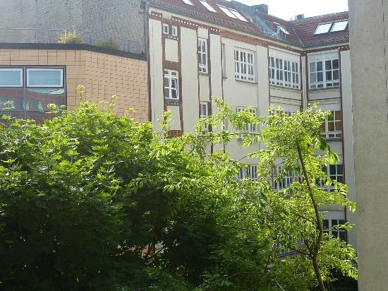 nu hotel berlin: vue depuis chambre du 3eme étage