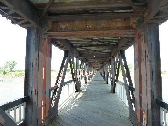Tulsa, OK: Pedestrian bridge over the river