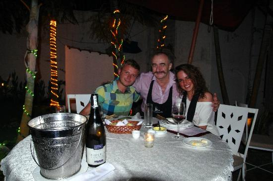 Trois Gourmands: us with the Chef (and the Owner) - food was so delicious we forgot to take photo earlier