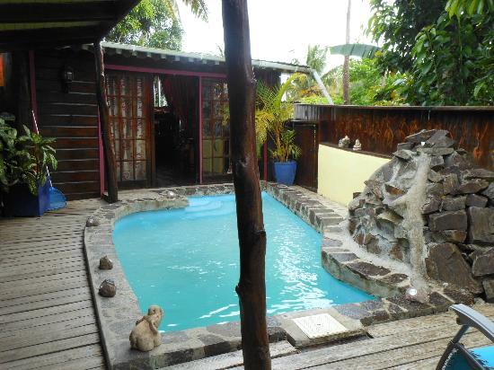 Crystals St Lucia: Private pool and front door at Calabash