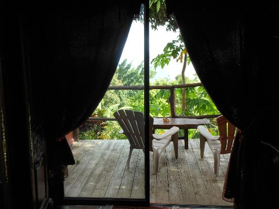 Crystals St Lucia: Looking out the back window of Calabash