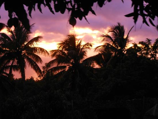 Crystals St Lucia: Sunset on Calabash's back deck