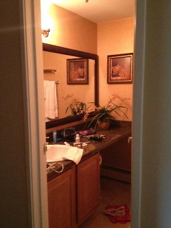 Holiday Inn Club Vacations Mount Ascutney Resort: Hall Bathroom