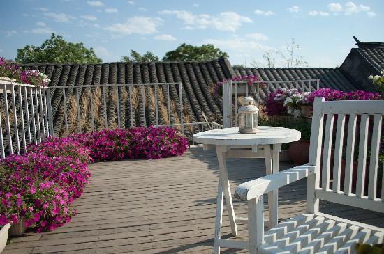 Peking Yard Hostel: The lovely terrace
