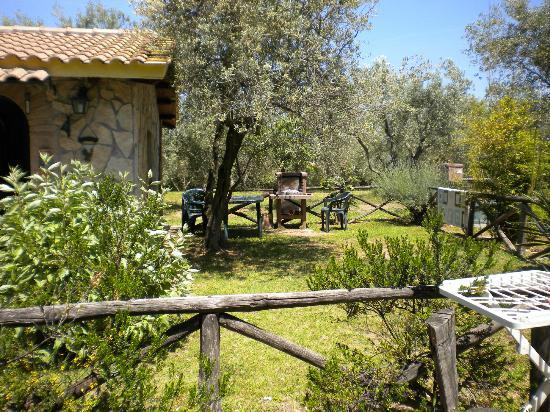 Il Pozzo Romano : giardino privato con barbecue