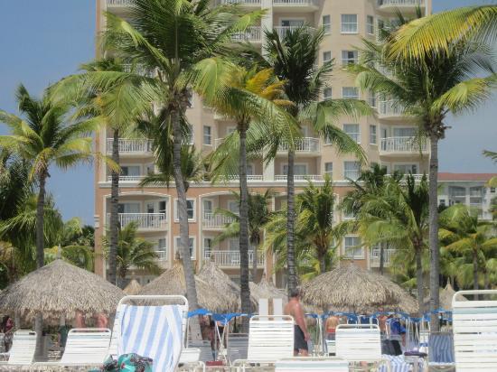 View from 9th floor oceanside picture of marriott 39 s - Marriott aruba surf club 2 bedroom villa ...
