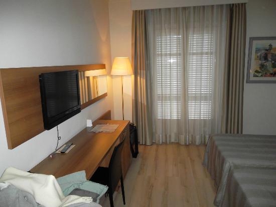 Hotel Pirineos: Habitación.