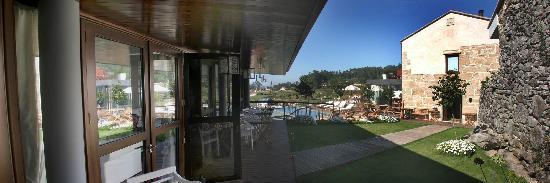 Hotel Quinta de San Amaro: VISTA DEL PORCHE
