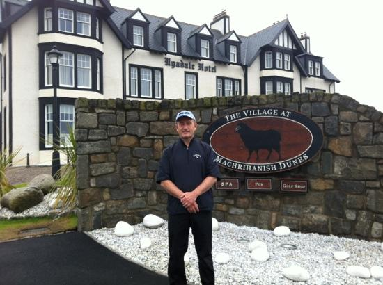 The Ugadale Hotel & Cottages: soaked after golf