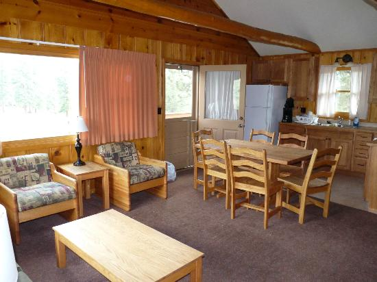 YMCA of the Rockies: living room and kitchen
