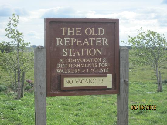 Old Repeater Station: B&B sign