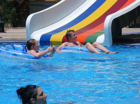 Club Exelsior: The pool, one of the slides!