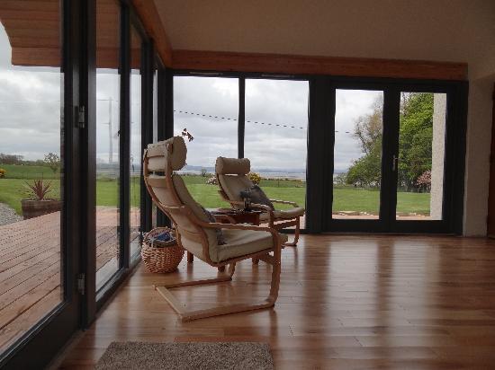 Wemyss House: Wintergarten mit super Aussicht