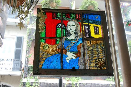 Stained Glass New Orleans.Stained Glass Mona Lisa Picture Of Mona Lisa Restaurant