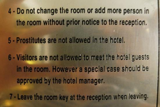 A&EM Phan Boi Chau Hotel: many hotel rules to adhere to