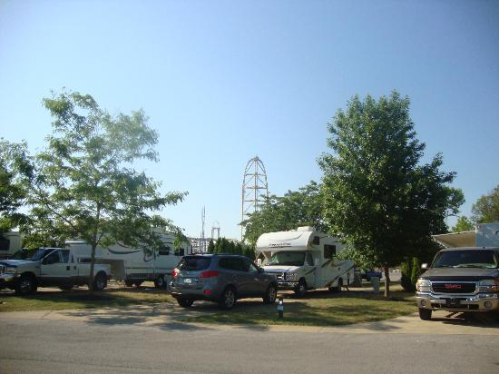 Cedar Point's Lighthouse Point: Lighthouse Village section of the campground