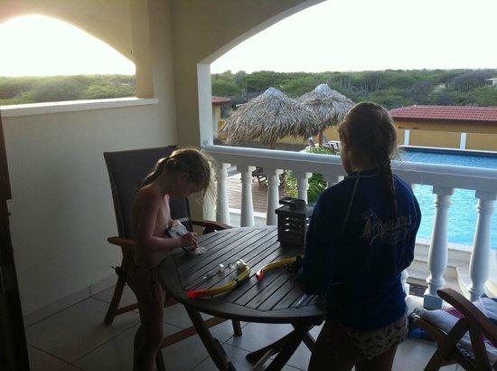 Wanapa Lodge: uitzicht vanaf kamer, snorkel poetsen