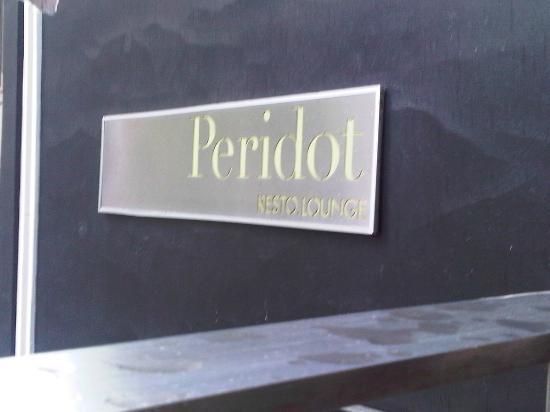 Peridot Resto Lounge: welcome