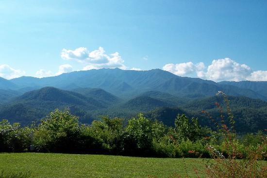 The Highlands Condominium: View from unit 410 of Mt LeConte