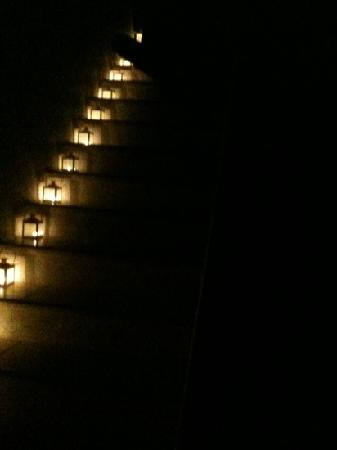 Apsenti Couples Only - Mykonos: candle lit stairs at night