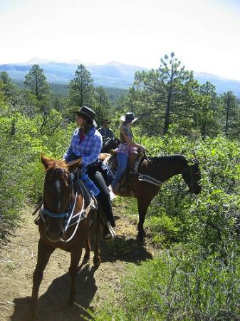 Majestic Dude Ranch: Trail Ride Views
