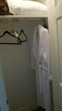 Inn-Chanted Forest Bed and Breakfast: Lit Closets with comfy bathrobe