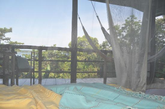 La Loma Jungle Lodge and Chocolate Farm: Inside the mosquito net