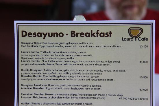 Laura's House : The Breakfast Menu