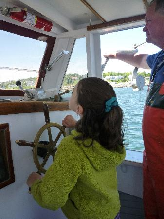Finestkind Scenic Cruises: kids can get a chance to steer the boat!